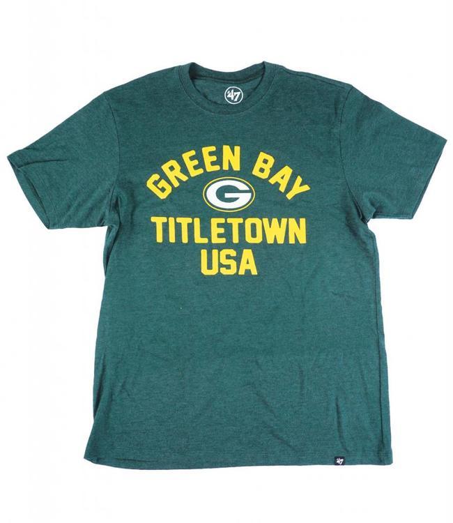 '47 BRAND GREEN BAY PACKERS TITLETOWN CLUB T-SHIRT