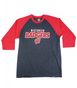 '47 BRAND WISCONSIN BADGERS CLUB RAGLAN TEE