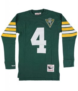 MITCHELL AND NESS GREEN BAY PACKERS FAVRE NAME AND NUMBER LONG SLEEVE