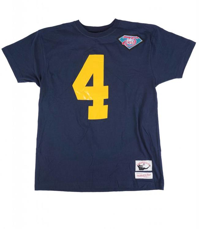 MITCHELL AND NESS GREEN BAY PACKERS BRETT FAVRE NAME AND NUMBER TEE