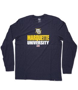 '47 BRAND MARQUETTE STACKER CLUB LS TEE