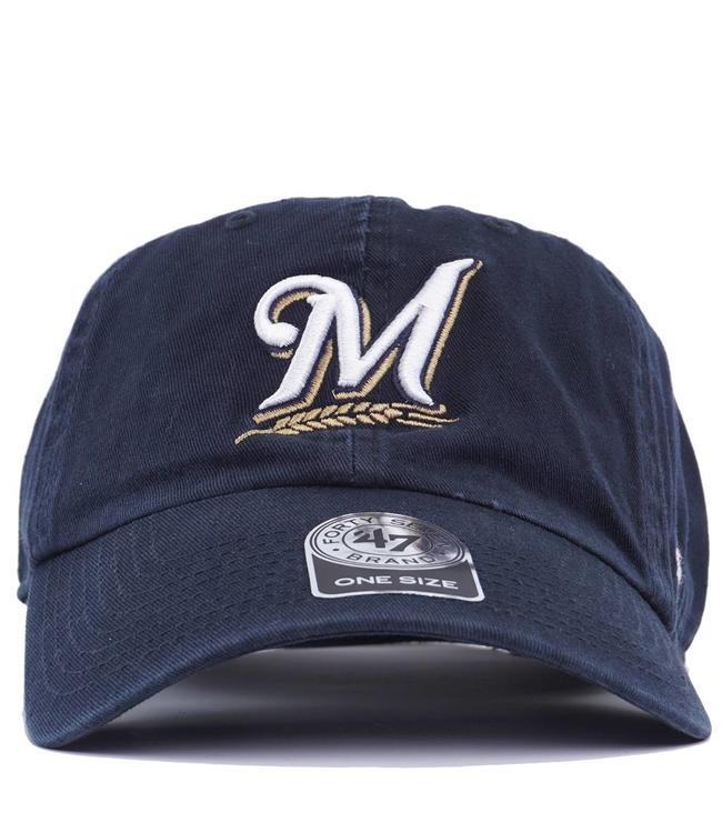 47 Brand Milwaukee Brewers Clean Up Hat - Navy - MODA3 ba52a9d1d07a