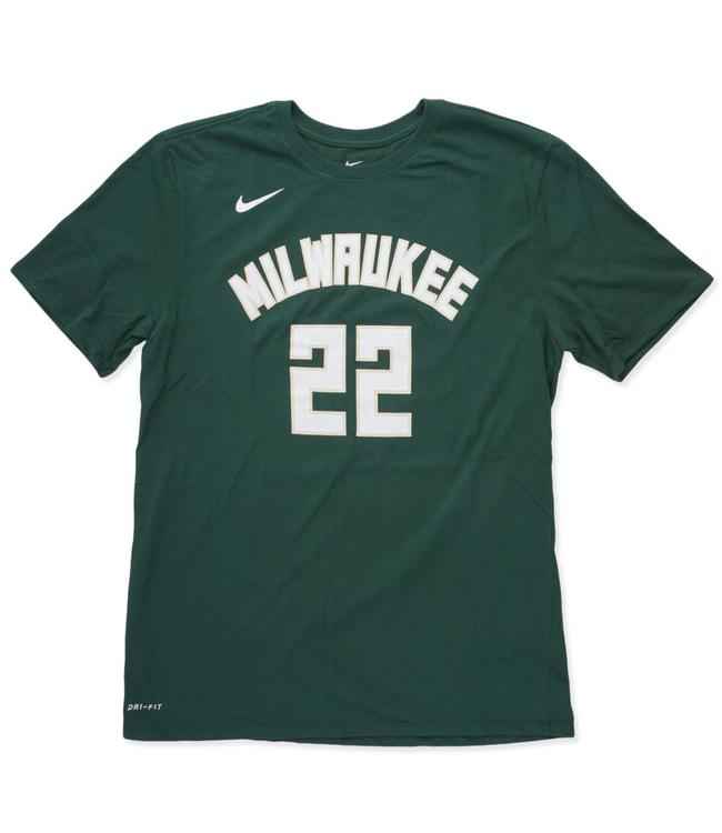 NIKE Bucks Khris Middleton Icon Name and Number Jersey T-Shirt
