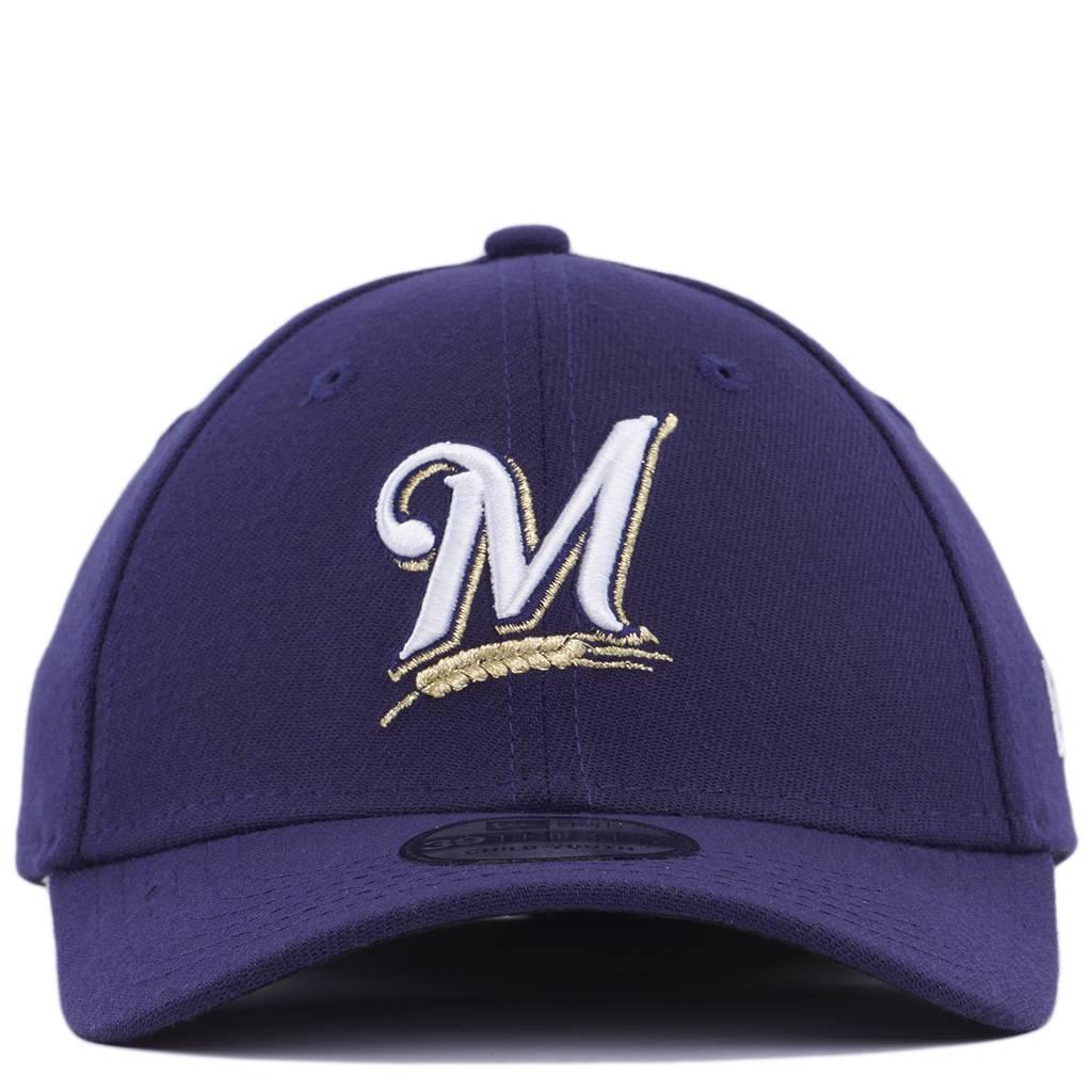 00c00b46 New Era Kids Milwaukee Brewers Team Classic 39Thirty Stretch Fit Hat - Navy  | 10975876