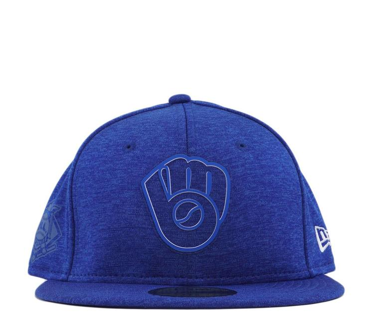 huge discount f6aef 00fe1 New Era Milwaukee Brewers 2018 Clubhouse 59Fifty Fitted Hat - Blue - MODA3
