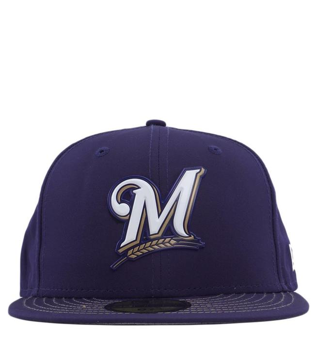 sports shoes 714e7 0daa5 NEW ERA Milwaukee Brewers MLB Batting Practice Prolight 59Fifty Fitted