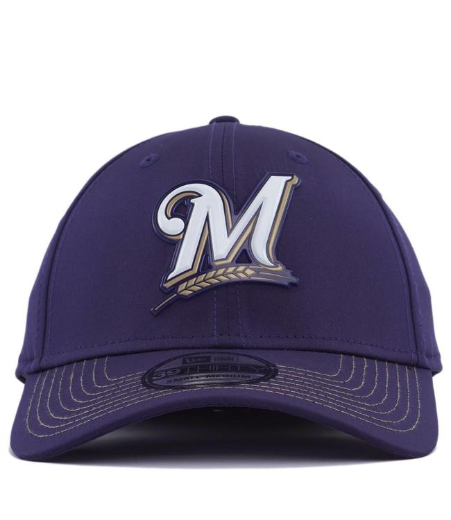 NEW ERA Milwaukee Brewers MLB Batting Practice Prolight 39Thirty Stretch  Fit Hat f4c7aef0c8d