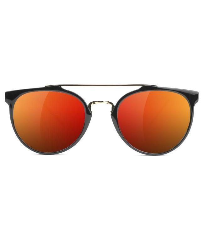 70620f0361 Glassy Sunhaters Chuck Sunglasses - Black Red Mirror - MODA3