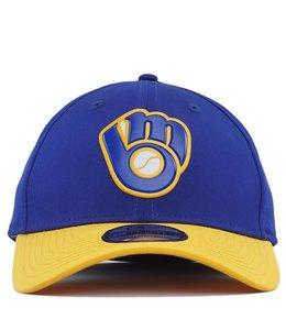 NEW ERA MILWAUKEE BREWERS ALTERNATE MLB BATTING PRACTICE PROLIGHT 39THIRTY  STRETCH FIT HAT 8e0d4ca18f76