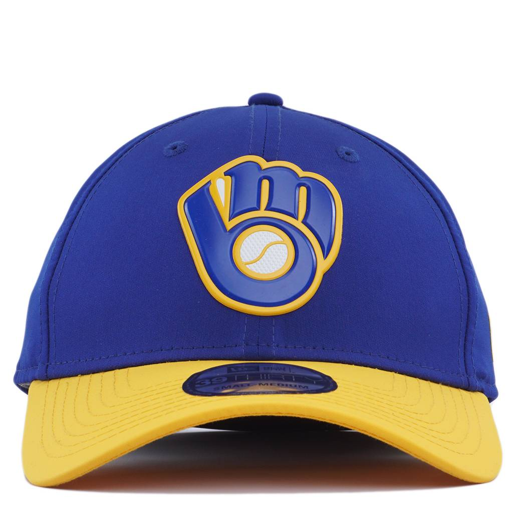 finest selection b6ecf 9b633 ... inexpensive new era milwaukee brewers alternate mlb batting practice  prolight 39thirty stretch fit hat a997d 23939
