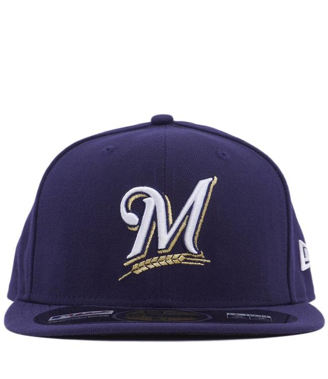 NEW ERA Brewers Authentic 59Fifty Fitted Hat