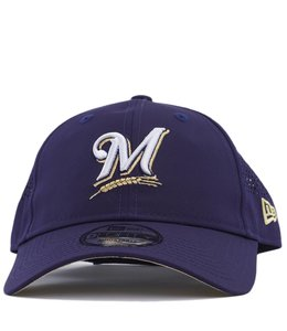 NEW ERA MILWAUKEE BREWERS PERFORATED PIVOT 9TWENTY ADJUSTABLE HAT