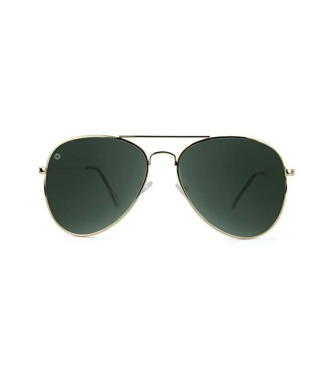 5454dbfa25 Knockaround Mile Highs Sunglasses - Gold Green Aviator - MODA3