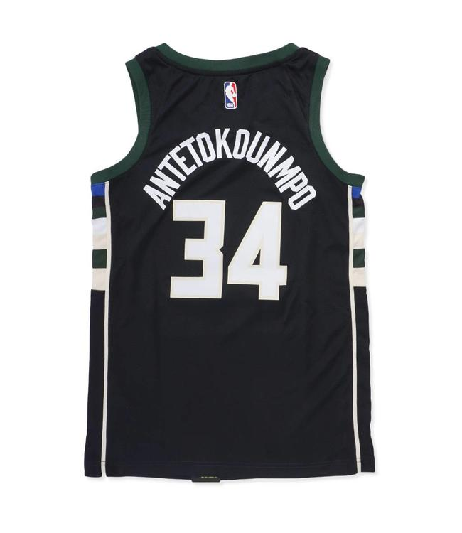 97e8d251cef Nike Milwaukee Bucks Giannis Statement Swingman Jersey - Black - MODA3