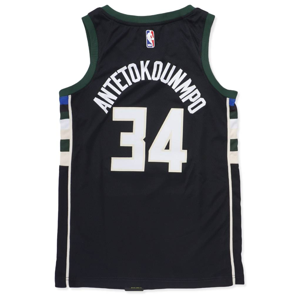 Nike Milwaukee Bucks Giannis Statement Swingman Jersey - Black - MODA3 722993fae