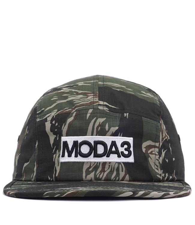 MODA3 Box Logo 5-Panel Camp Hat - Tiger Camo - MODA3 adfea66c49a6