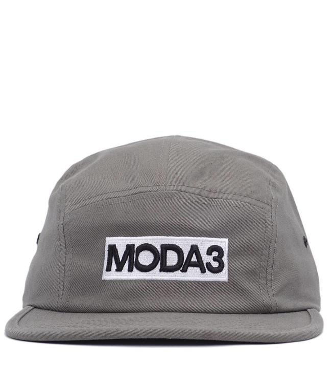 MODA3 Box Logo 5-Panel Camp Hat - Grey - MODA3 99d7f61ae797