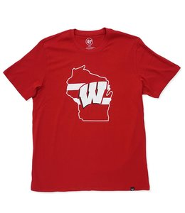 '47 BRAND BADGERS STATE FILL LOGO TEE