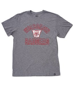 959d75ea91554 47 Brand Wisconsin Badgers 1 4 Zip Headline Crew - Wolf Grey - MODA3