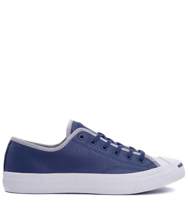 33bab79fcbe8 Converse Jack Purcell Jack Ox Shoes - Blue Wolf Grey White