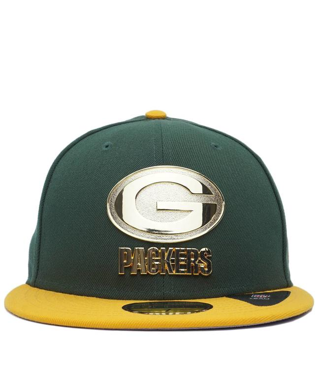 New Era Green Bay Packers Golden Finish Fitted Hat - Green Gold ... ae96b6ac0c31