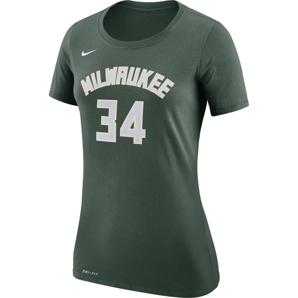 e696077626c Nike Milwaukee Bucks Womens Giannis Antetokounmpo Icon Jersey Tee ...