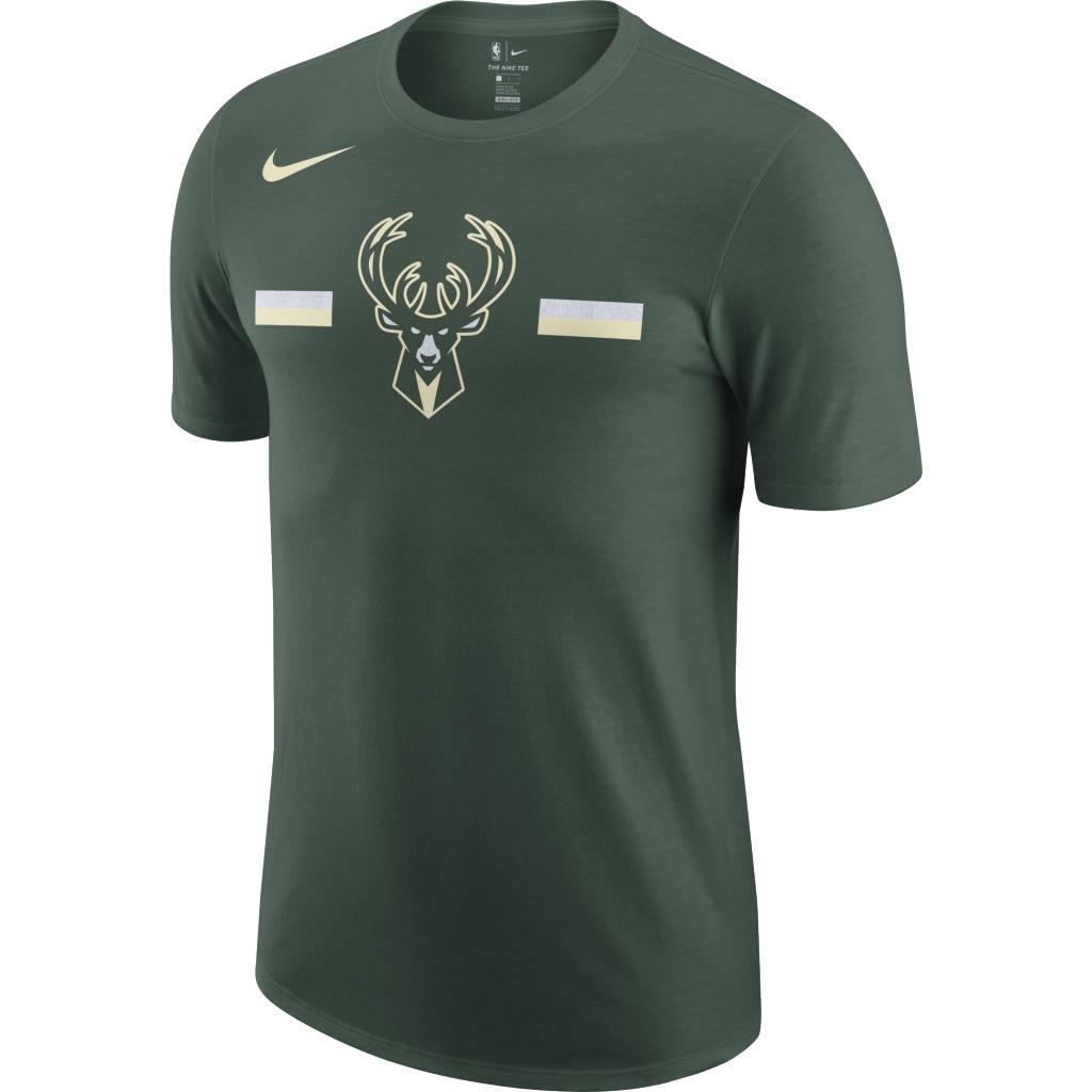 d6da5b5a Nike Milwaukee Bucks Dri-Fit Primary Logo T-Shirt - Fir Green ...