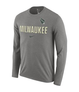 NIKE BUCKS ESSENTIAL PRACTICE LONG SLEEVE TEE