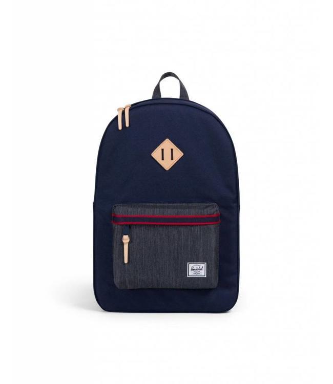 49a29dd3446 Herschel Supply Co. Heritage Backpack - Peacoat Dark Denim - Offset ...