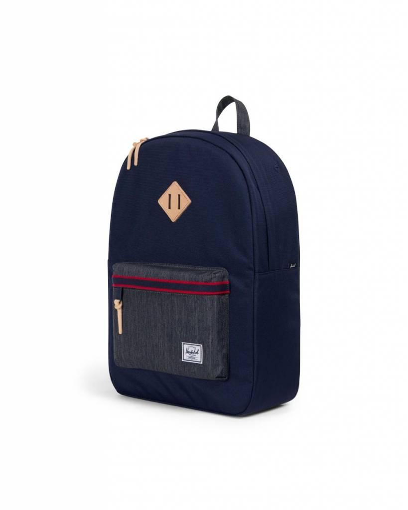 0d617b08af0 Herschel Supply Co. Heritage Backpack - Peacoat Dark Denim - Offset ...