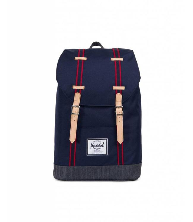 Herschel Supply Co. Retreat Backpack - Peacoat Dark Denim - Offset ... 651ab1de01