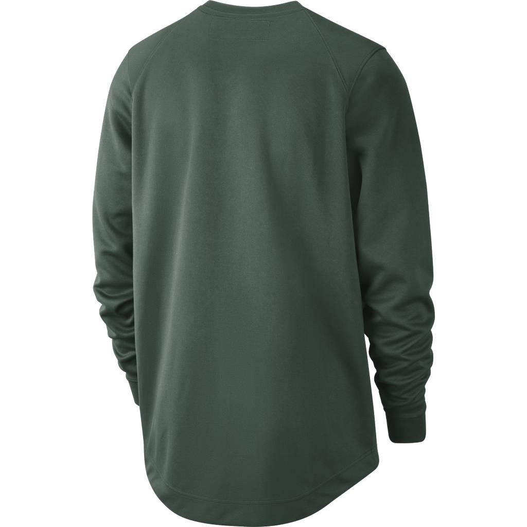 684d5de0 Nike Milwaukee Bucks Spotlight Warm-Up Crewneck - Fir Green | 941078 ...
