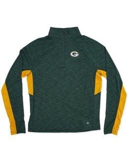 47 Brand Green Bay Packers Blockout Headline Pullover Hoodie - Dark ... f39ab0cd3