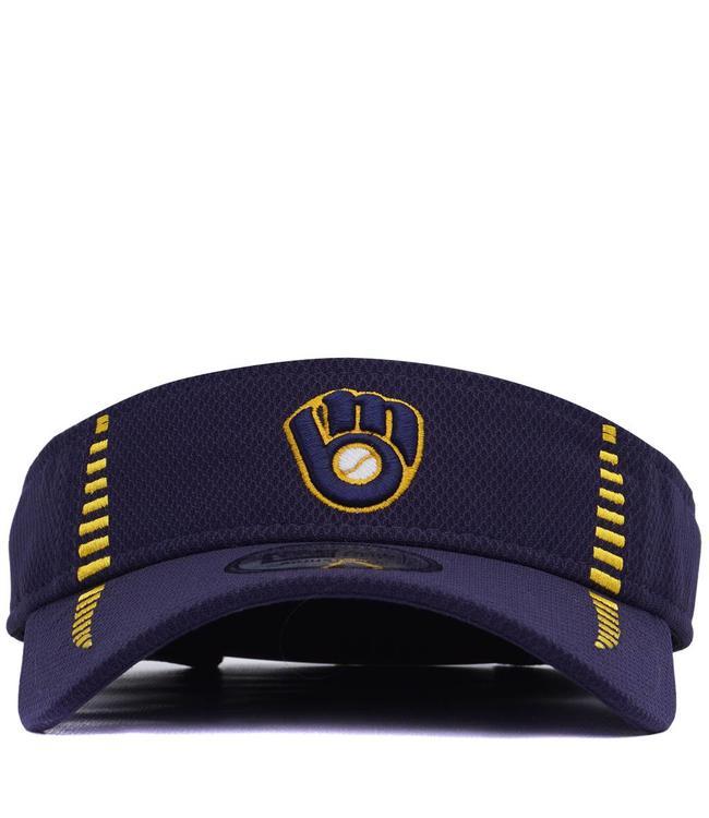 39325548c066f New Era Milwaukee Brewers Retro Logo Speed Visor - Navy