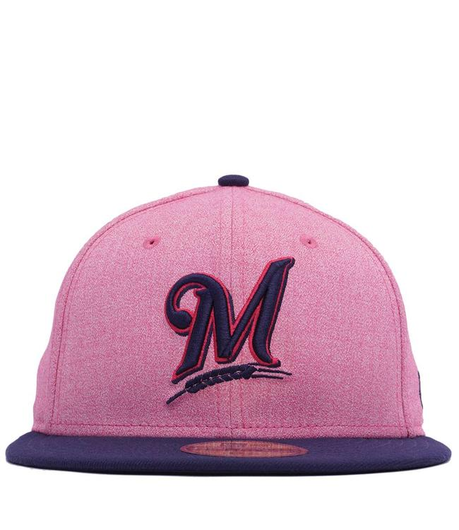 save off 4ce44 6fc38 NEW ERA Brewers Mother s Day  18 Fitted Hat