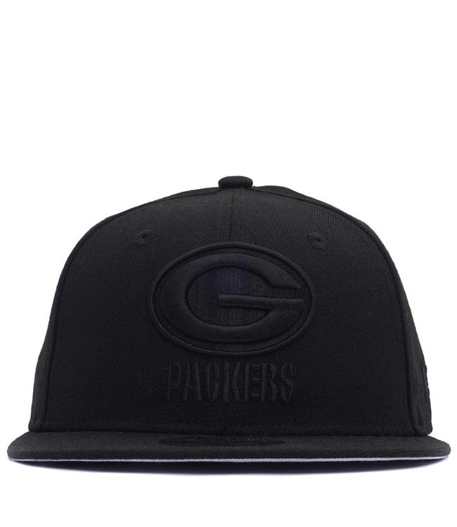 New Era Green Bay Packers Black on Black Fitted Hat - Black ... d27519459206