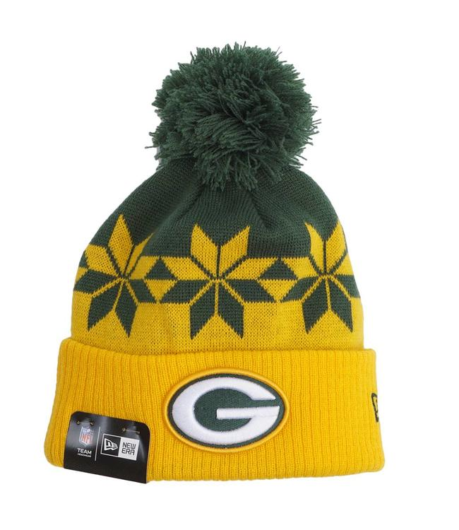 124f5f5c53c New Era Green Bay Packers Wintry Cuff Beanie - Green Gold