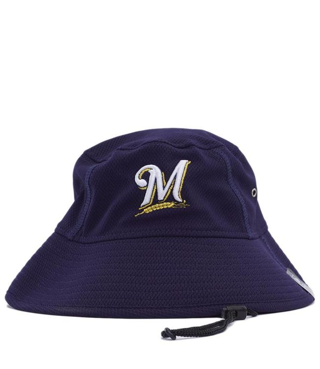 bfc2219d3ba2a New Era Milwaukee Brewers Clubhouse Bucket Hat - Navy