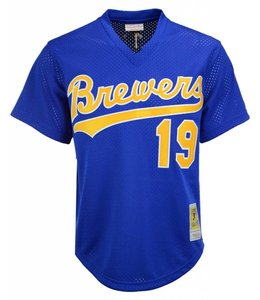 MITCHELL AND NESS BREWERS ROBIN YOUNT BATTING PRACTICE JERSEY