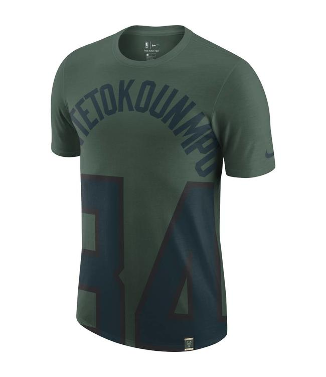 Nike Milwaukee Bucks Giannis Antetokounmpo Oversized Name and Number ... de9546a97