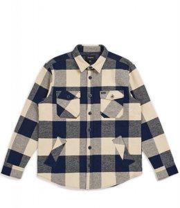 Brixton Bowery Flannel Shirt - Heather Grey Charcoal  77829aecc0a
