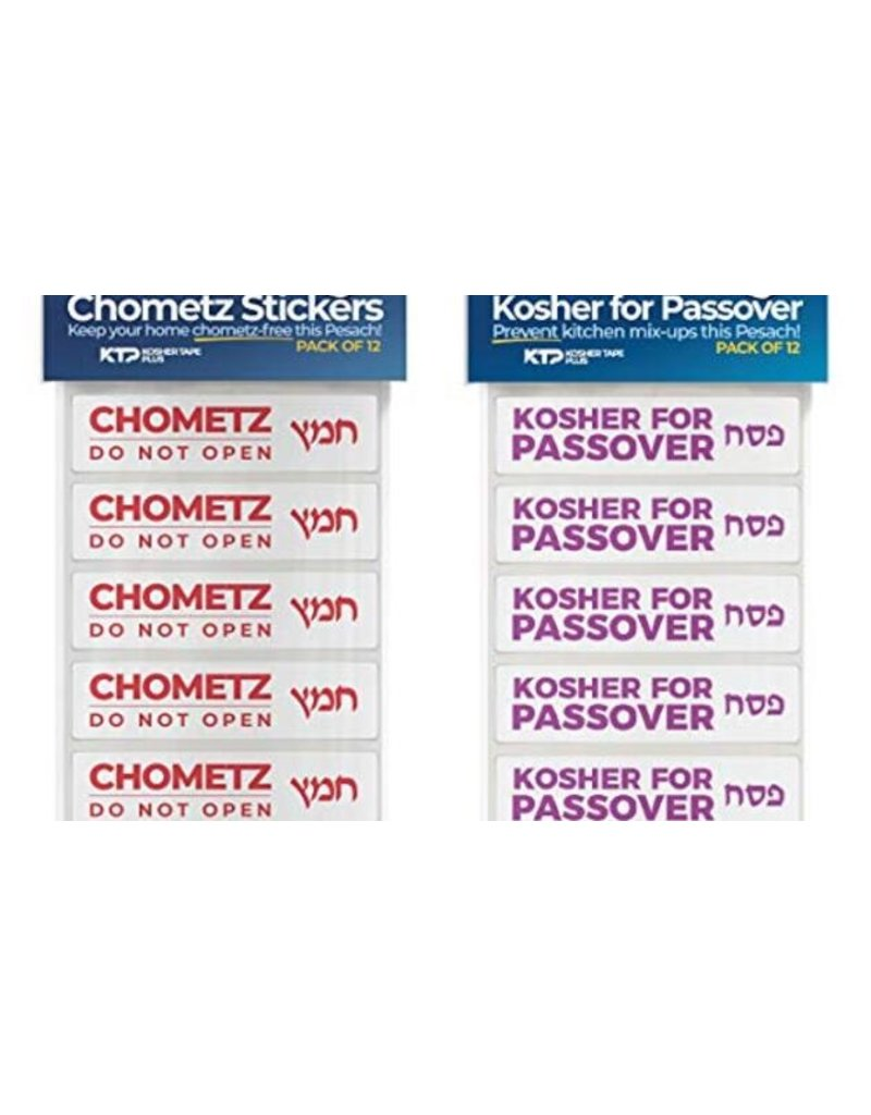 KOSHER TAPE PLUS KOSHER FOR PASSOVER STICKERS Pack of 12