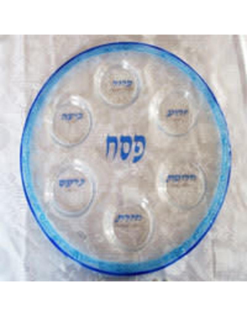 GLASS SEDER PLATE 5671