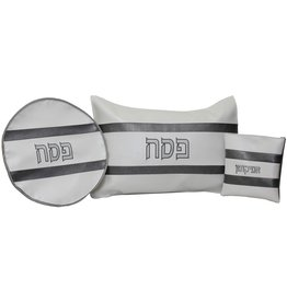 Matzah Cover, Afikomen Bag, Pillow Set- Vinyl- PESACH 3 PC SET PS13