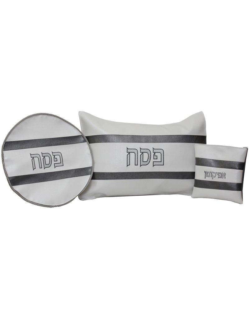 Matzah Cover, Afikomen Bag, Pillow Set- Vinyl- PESACH 3 PC SET PS13