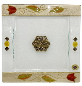 MAJESTIC GIFTWARE MATZAH TRAY SQUARE LAMT36