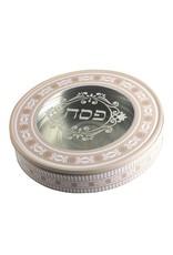 TIN ROUND MATZAH BOX UK43066