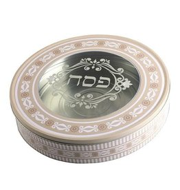 TIN ROUND MATZAH BOX UK43066