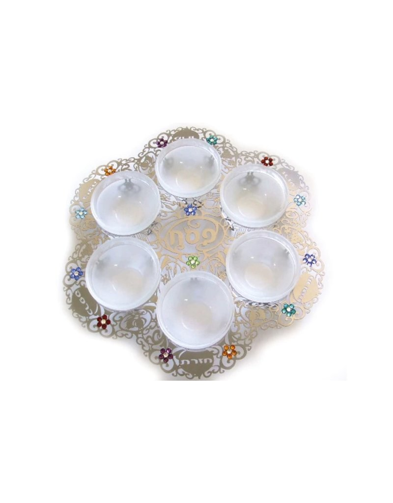 ANAT MAYER FLOWER SEDER PLATE BY ANAT