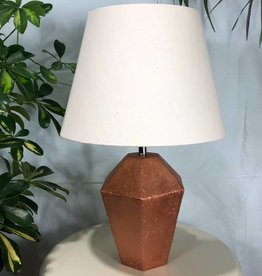 "Creative Coop 18"" Concrete Lamp with Shade"
